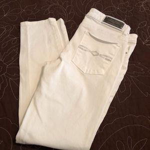 Zara Woman Premier Denim White Slim Fit Jeans